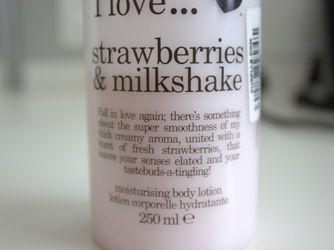 I Love... Strawberries and Milkshake Moisturising Body Lotion Review (3)