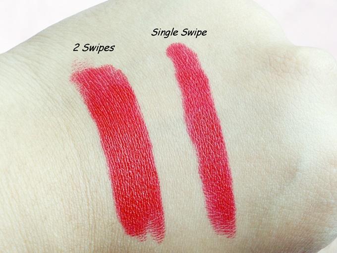 Loreal Paris Color Riche Pure Reds Star Collection Lipstick In Pure Rouge Review (6)