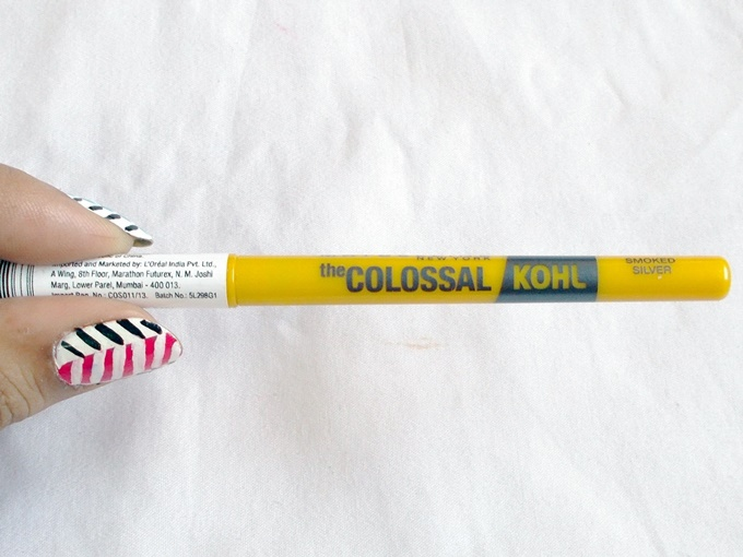 Thumbnail image for Maybelline The Colossal Kohl Kajal In Smoked Silver Review