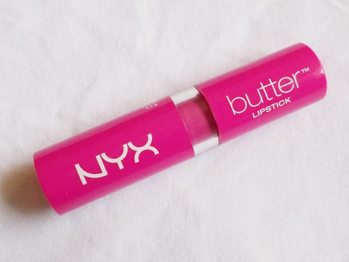 NYX Butter Lipstick In Razzle Review (7)