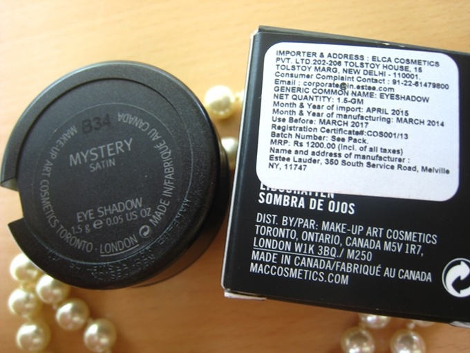 MAC Mystery Satin Eye Shadow Review (2)