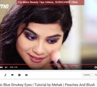 Dramatic blue smokey eye tutorial for Indian Skin