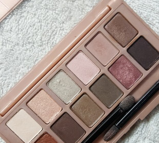 Maybelline The Blushed Nudes Eyeshadow Palette : Swatches and Review