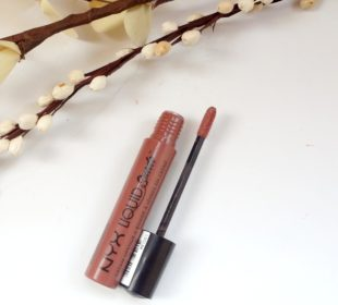 NYX Liquid Suede Lipstick in Soft Spoken : Swatches and Review