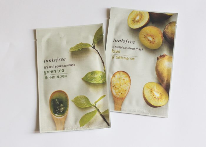 Post image for Innisfree It's Real Squeeze Sheet Masks in Green Tea and Kiwi : Review